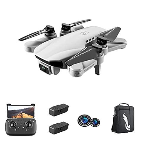JJDSN Drone a Doppia Fotocamera 6K Ultra-Trasparente, Drone Pieghevole a Quattro Assi per Principianti, Facile da Usare, 30 Minuti di Volo, con Due batterie e Zaino