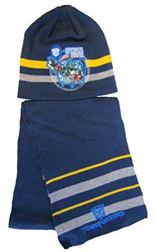 Hasbro - Transformers Wintermütze und Schal Set für Kinder, Jungen verschiedene Größen (Dunkelblau, 54)