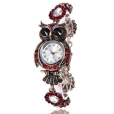 relojes de mujer, Mujer Reloj de Moda Reloj Pulsera Reloj creativo único Reloj Casual Simulado Diamante Reloj Reloj de Pulsera Chino Cuarzo Metal PU Banda ( Color : Azul , Género : Para Mujer )