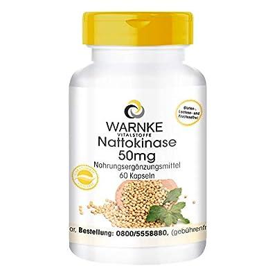 Warnke Health Products Nattokinase 50mg, fermented, 2000 FU per day, vegan, 60 capsules by Warnke Gesundheitsprodukte GmbH & Co. KG