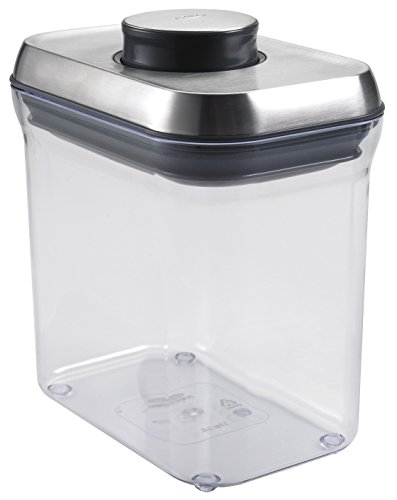 OXO SteeL 1.5 Qt POP Container – Airtight Food Storage – for Snacks and More