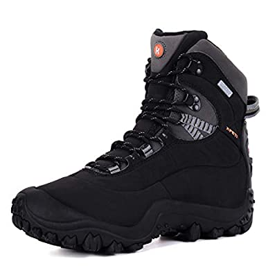 XPETI Women's Thermator Mid High-Top Waterproof Hiking Boot Trekking Hunting Outdoor Antiskid All-Weather Protection Black 9