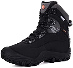 XPETI Women's Thermator Mid High-Top Waterproof Hiking Outdoor Boot (Black, 11)