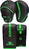 RDX Manoplas Boxeo y Guantes Curvas Paos MMA Muay Thai Artes Marciales Kick Boxing Focus Pads Entrenamiento Patadas Karate