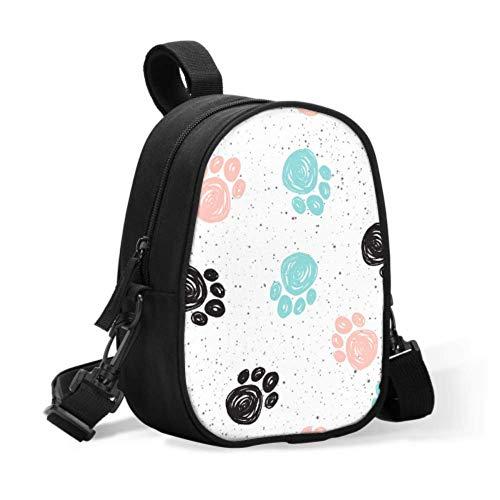 Niedliche Lunch-Taschen Bunte Doodle-Hundetatze Tier Einzigartige Lunch-Tasche Baby-Flaschentaschenwärmer Leicht an Kinderwagen für Reisen Baby-Flaschenwärmer oder cool zu befestigen