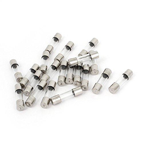 Feinsicherung mit Glasgehäuse, Glassicherung, schnell, 250V, 2A, F2AL, 5 x 20mm, 20 Stück de
