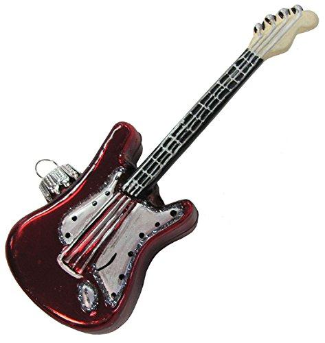 Dekohelden24 Original LAUSCHAER Christbaumschmuck - E- Gitarre, Multicolor, Aufwendig handdekoriert, ca. 11,4 cm