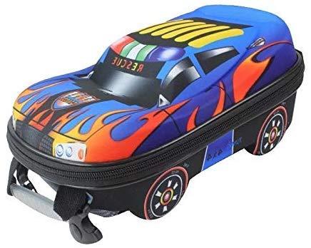NGXIWW Kinderrugzak Cartoon 3D Cartoon Auto Rugzak Kinderen School Tassen voor Jongens Satchel Kindertas Meisjes Q Blauw