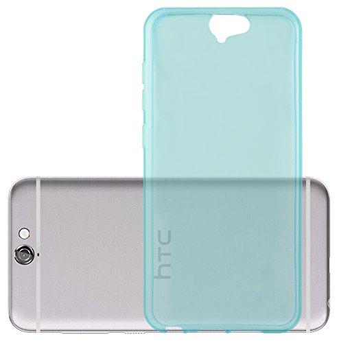 Cadorabo Hülle für HTC ONE A9 in TRANSPARENT BLAU - Handyhülle aus flexiblem TPU Silikon - Silikonhülle Schutzhülle Ultra Slim Soft Back Cover Hülle Bumper