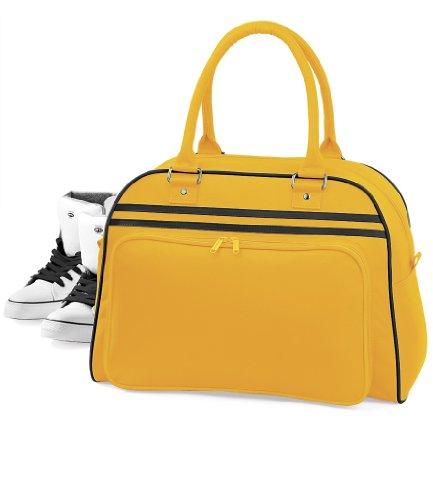 BagBase Bowlingtasche Retro, schwarz/weiß, Einheitsgröße