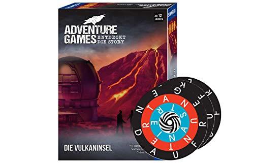 Collectix Comos 693169 Adventure Games - Juego de mesa (descubre la historia: la isla volcánica + 1 minijuego Word-A-Round)