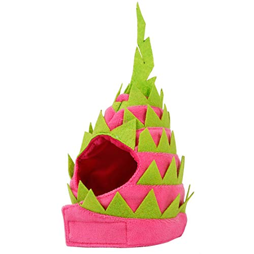 Kaemma Grappige Draak Fruit Vorm Huisdier Hoofddeksels Hond Fruit Draaide In Een Hoed Kat Mode Verstelbare Hals Sjaal Hoed, Modern design, S