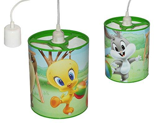 alles-meine.de GmbH Deckenlampe / Hängelampe - Looney Tunes Baby - 24 cm hoch - für Kinder Kinderzimmer Kinderlampe Leuchte - Baby Mädchen Jungen - Tweety Bugs Bunny Taz - Decken..