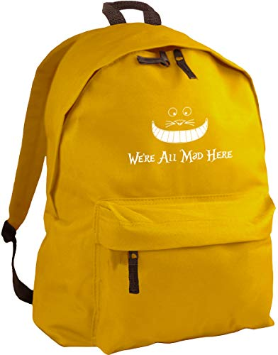 HippoWarehouse We're All Mad Here backpack ruck sack Dimensions: 31 x 42 x 21 cm Capacity: 18 litres