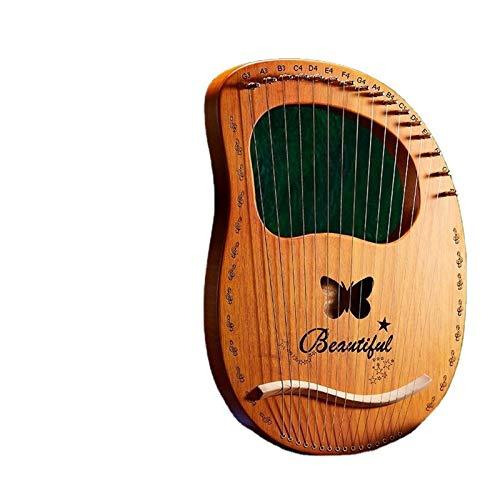 Harfe 19 Saite 19 Saite Harfe Furnier Kleine Tragbare 10 Weibliche Anfänger Sound Leier Leier Musikalischen Nische (Farbe : 001)