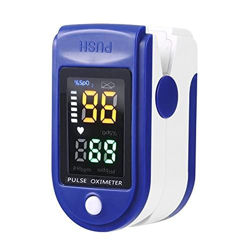 LeftSuper Oxímetro Digital PUE de Cuatro Colores, monitores de saturación, Sensor de oxígeno portátil