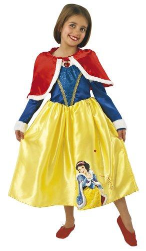 Princesas Disney - Disfraz de Blancanieves de Invierno para niña, infantil 5-6 años (Rubie's 887091-M)