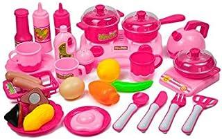مجموعة ادوات المطبخ للعب والطبخ والتقطيع ولعب الادوار كهدايا للاطفال، مجموعة من 33 قطعة
