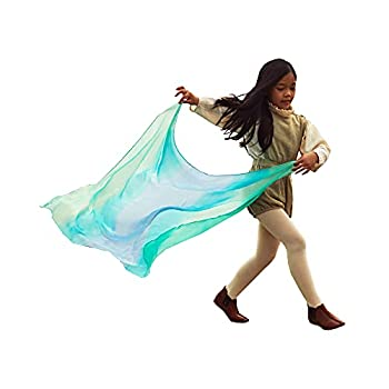 Sarah s Silks Enchanted Playsilk 100% Silk Scarves for Kids and Toddlers Sensory Toys | Bright Square Scarves Montessori Waldorf Toys for Imaginative and Pretend Play - Sea