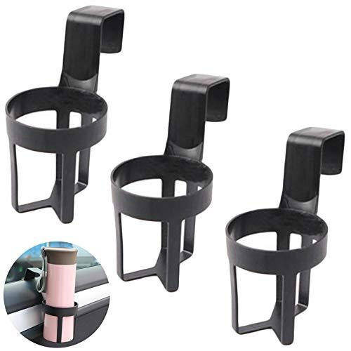 Portavasos de Agua de Plástico para Coche Soporte para Latas de Bebidas para Coche Soporte de Ventana para Salpicadero Interiores de Automóviles Soporte de Bebida para Botella de Automóvil 3 Piezas
