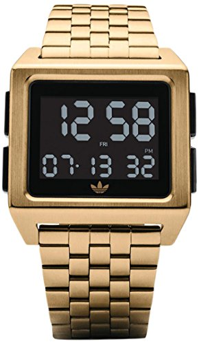 Adidas Damen Digital Uhr mit Edelstahl Armband Z01-513-00