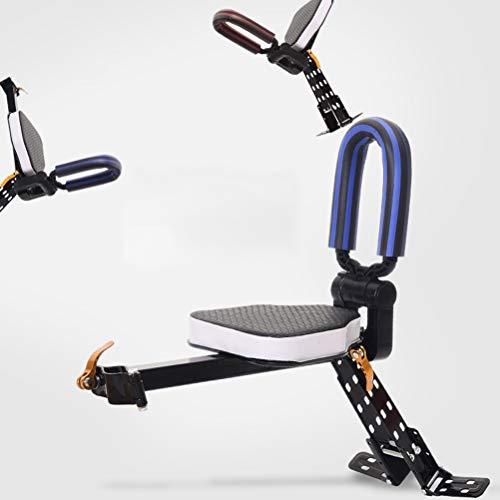 Olz Fahrrad vorne Baby- / Kindersitze, Mountainbike-Vordersitz Tragbare Baby-Fahrradträgerin mit Handlauf Fahrradhalterung Baby-Kindersitz vorne,Blau