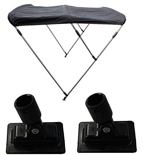 Sonnensegel / Bimini für Schlauchboote mit Halterungen in schwarz 130 cm