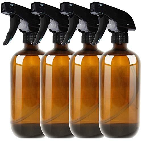 THETIS Botellas de Spray vacías de ámbar Boston de 500ml (4 Paquete de) -...