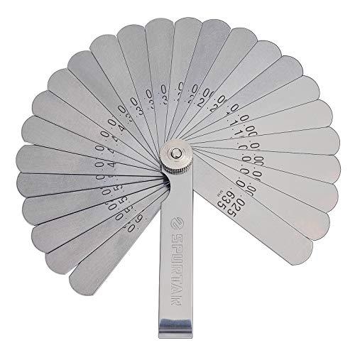 Spurtar シックネスゲージ リーフ 隙間ゲージ フィーラーゲージ 隙間測定ツール 高精度 26枚組 0.038mm〜0.635mm