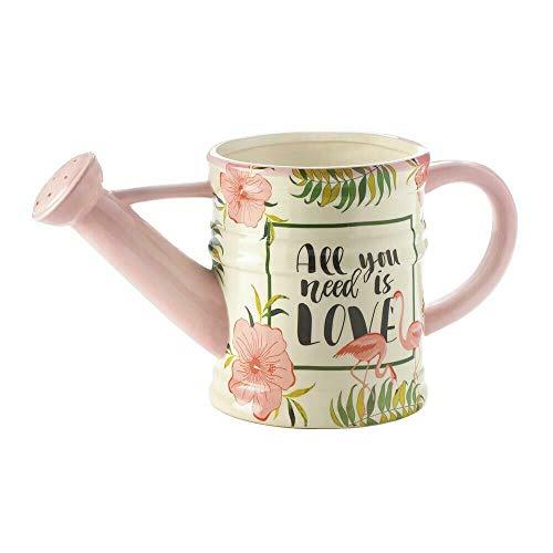 Summerfield Terrace 10018327 Blumenkasten mit Flamingo-Gießkanne, Mehrfarbig