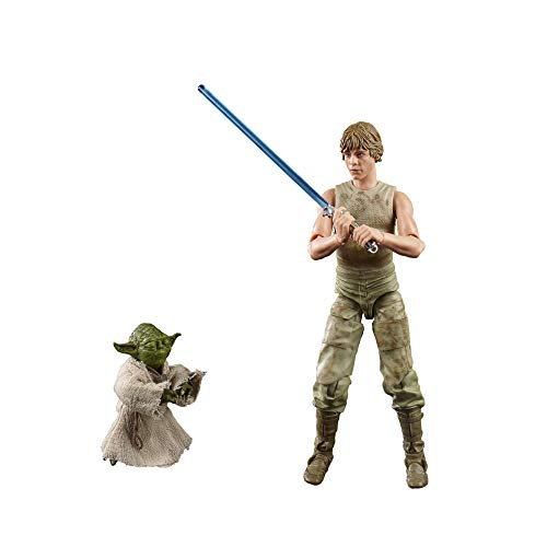 Star Wars The Black Series Luke Skywalker y Yoda (Entrenamiento Jedi) a Escala de 15 cm Star Wars: The Empire ataca Figuras del 40 Aniversario