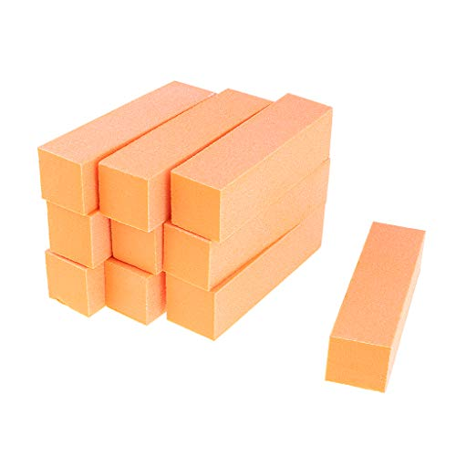 Fenteer Lots 10pcs Nail Art Buffer Files Block Tampon À 4 Directions Pour Nail Art pour Manucure/Pédicure - Orange