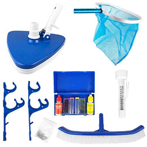 well2wellness® Pool Reinigungsset Premium 6 teilig für die perfekte Poolpflege