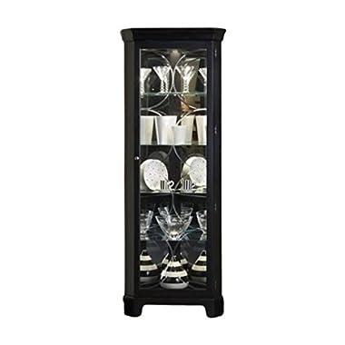 Bowery Hill Oxford Black Corner Curio Cabinet