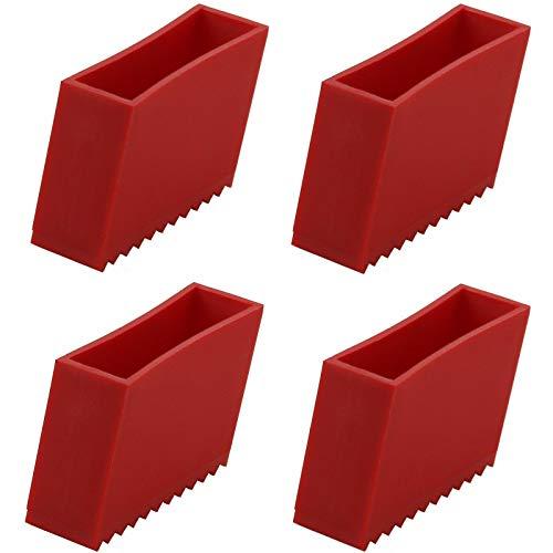 Preisvergleich Produktbild 4 x Schutzkappen für Holz-Leiter JUMBO Abdeck-Kappe Leiterschuh Leiterfuß