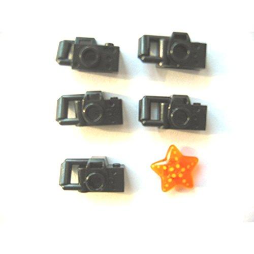 LEGO City - Cámara de Fotos para Figuras (5 Unidades), Color Negro