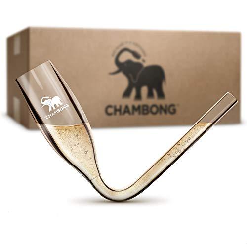 CHAMBONG – 6 oz Classic Size, 50 Pcs Acrylic Shatterproof Event Pack, Convenient Bulk Packaging - Champagne Shooter Plastic Flute - Fun Party Favor, Bachelorette, Bridesmaids Gifts