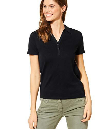 Cecil Damen 313339 Polo T-Shirt, Black, Medium
