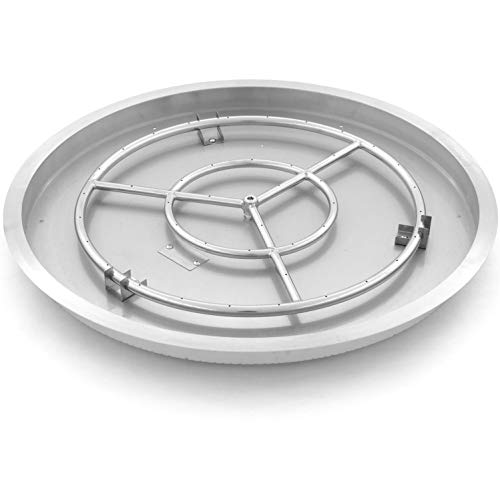 Lakeview Outdoor Designs 31-Inch Round Drop-in Pan with 24-Inch Propane Ring Burner (Ships As Natural Gas)