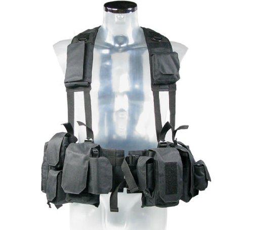 BE-X Kampfmittelweste Ephod/IDF mit Abnehmbarer Erste-Hilfe Tasche - schwarz
