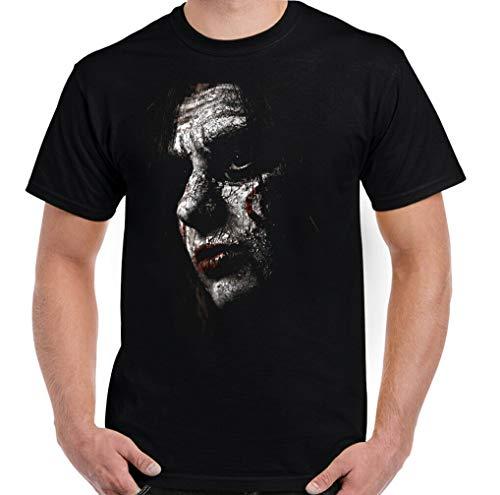 Hommes Saw T-Shirt,Jigsaw Masque Halloween Horreur Film Unisexe T-Shirt