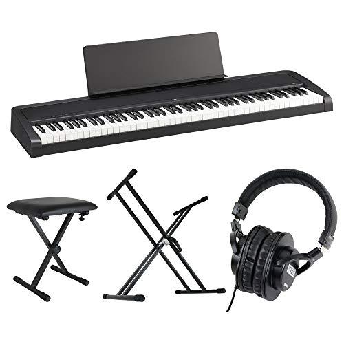 KORG B2 BK 電子ピアノ Dicon Audio X型キーボードスタンド&ベンチ SD GAZERヘッドホン 4点セット