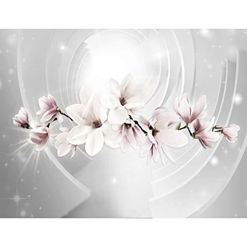 Runa Art Fototapete Blumen Magnolien Modern Vlies Wohnzimmer Schlafzimmer Flur - made in Germany - Grau 9235010a
