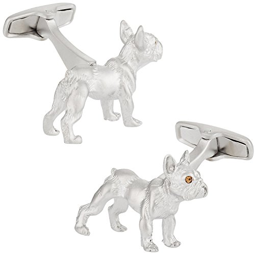 Safari Cuff-Daddy French Bulldog Cufflinks with Travel Presentation Gift Box