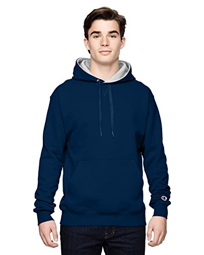 Champion mens Cotton Max 9.7 oz. Pullover Hood - XX-Large - Sp Dnavy/Ath Htr