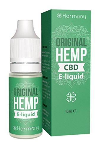 Harmony CBD E-Liquid (über 99{5789111d1eb4dbfc218d6817cc4cad7c5e122632d8b8f3b2f5cb68ead2bfc485} Reinheit) - Terpene von Original Hemp - 600mg CBD in 10 ml - nikotinfrei