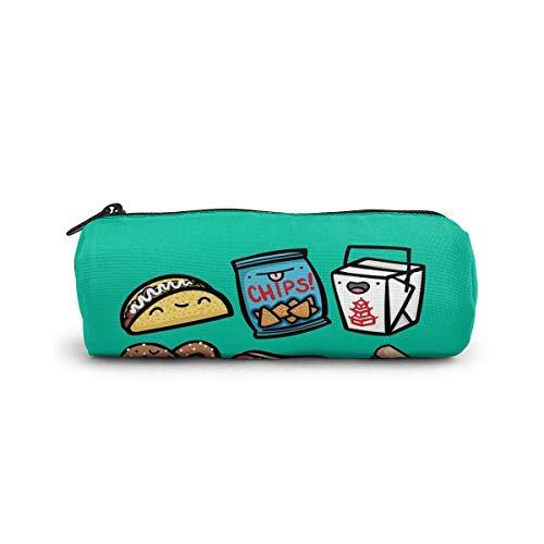 Junk Food Dudes - Estuche para lápices, papelería, bolsa de cosméticos, para estudiantes, oficina, colegio, escuela secundaria