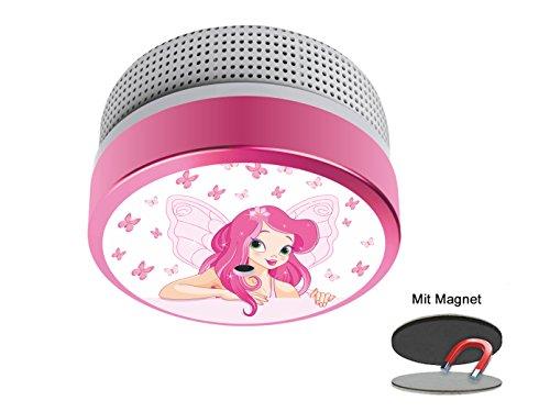 Mini rookmelder met ivoorprinsessin motief, ideaal voor de kinderkamer, batterij van 10 jaar, DIN EN14604, met praktische Easy & Clean magneetmontage