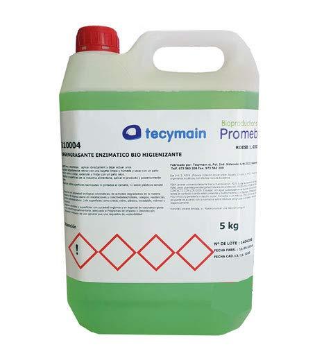 Clim Profesional Desengrasante enzimático biológico con ph Neutro. Garrafa de 5 litros. Degrada la Materia orgánica de Limpieza Diaria en Cristal, Vidrio, plástico, Inoxidable, mármol y cerámica