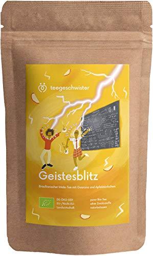 teegeschwister® | Geistesblitz | Koffeinhaltiger BIO Energie-Tee mit Mate Guarana Eisenkraut und Zimt | Für Studenten, Büroleute und Selbständige